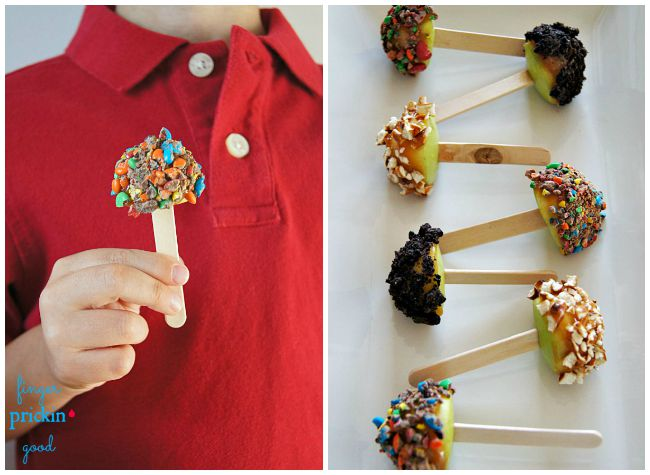 Mini Caramel Apple Pops- 5