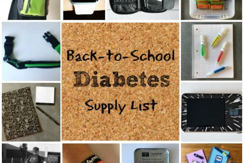 Back to School Diabetes Supply List